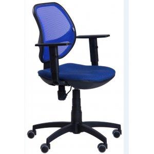 Кресло операторское AMF Квант Пластик ткань квадро/сетка синяя