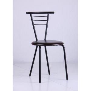 Кухонный стул AMF Бонус черный кожзам мадрас