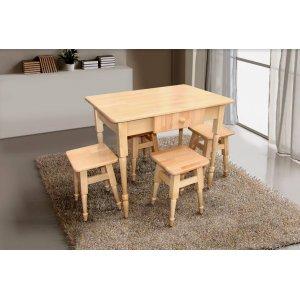 Кухонный комплект Стол+4 табуретки Микс Мебель массив бука