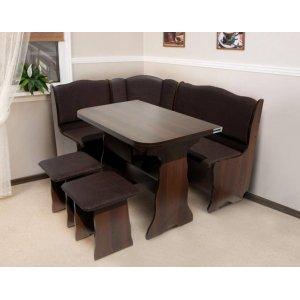 Кухонный комплект Гармония Микс Мебель стол+угол+ 2 табуретки