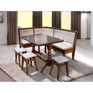 Кухонный комплект Семейный стол+3 табуретки Микс Мебель