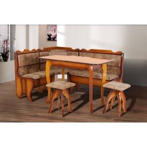 Кухонный комплект Даллас Микс Мебель стол+угол+ 2 табуретки