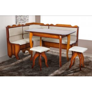 Кухонный комплект Ромео Микс Мебель стол+угол+ 2 табуретки