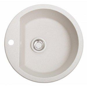 Мойка для кухни из иксусственного камня Round белый (гранитная)