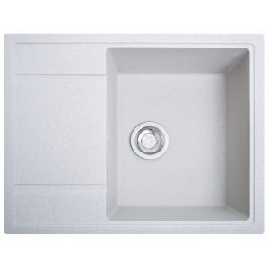 Кухонная мойка гранитная из камня Optima белый