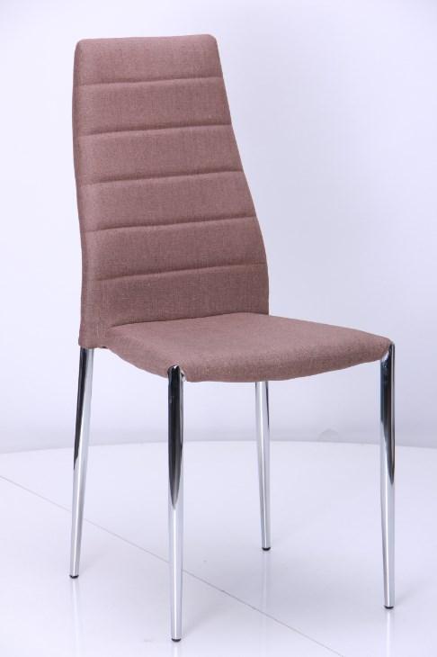 белые стулья коричневая ткань фото мягкие